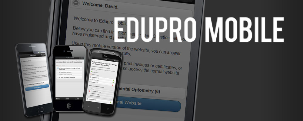 Edupro: Mobile Optimised Website